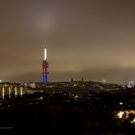 Prague Tower Park in night by Jo Wood - Buildings & Architecture Other Exteriors