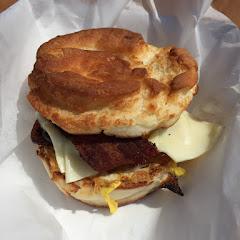 Gluten free English muffin sandwich