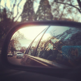 Vision in a rear mirror.  by Bundle of Fun . - Instagram & Mobile iPhone
