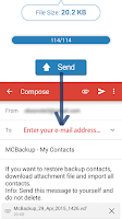 Screenshot of MCBackup - My Contacts Backup