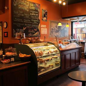 Coffee Shop by Doug Maertz - City,  Street & Park  Markets & Shops