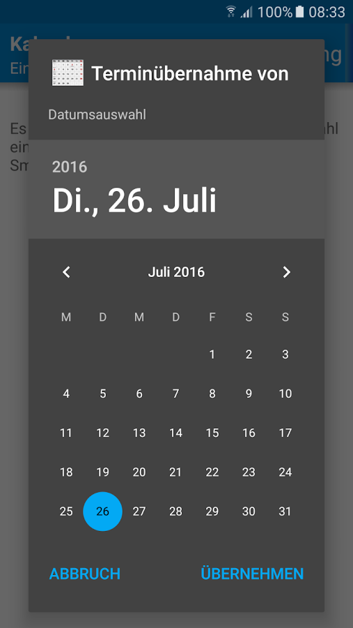 Wear Kalender Screenshot 6