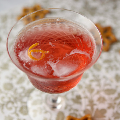 Homemade cranberry clementine vodka and a Christmas cocktail