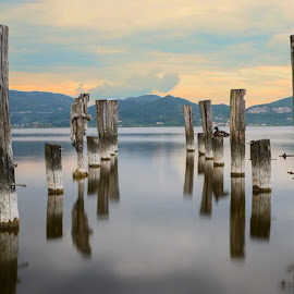 Pier on the lake by Elena Lena - Landscapes Waterscapes ( facebook, pier, lake, landscapes, landscape )
