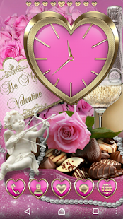 Pink Love Clock Collection - screenshot