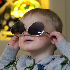 Cool dude! by Vicki Clemerson - Babies & Children Children Candids ( child, shades, toddler, cool dude, sunglasses )