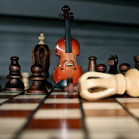 Chess & Music by Liana Lputyan - Products & Objects Education Objects ( chess music violin board game )