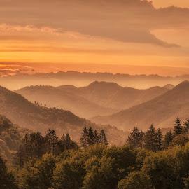 Sunrise by Boris Tashkov - Landscapes Mountains & Hills ( mountain, sunrise )