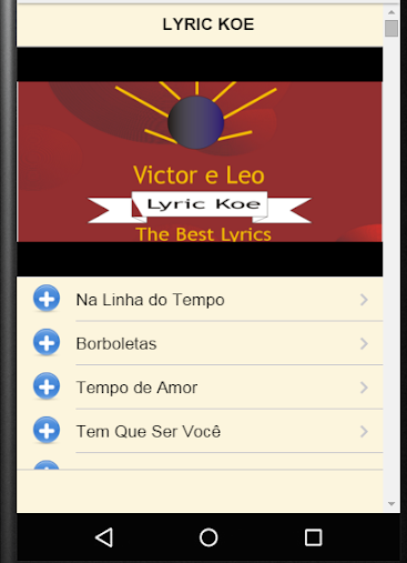 Victor e Leo Lyrics APK
