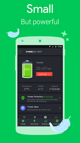 Power Battery - Battery Saver Android App Screenshot