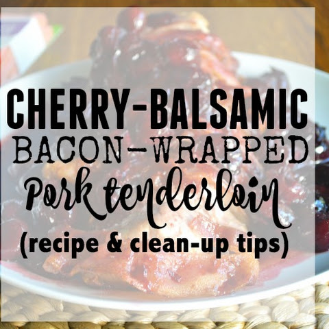 Cherry-Balsamic, Bacon-Wrapped Pork Loin