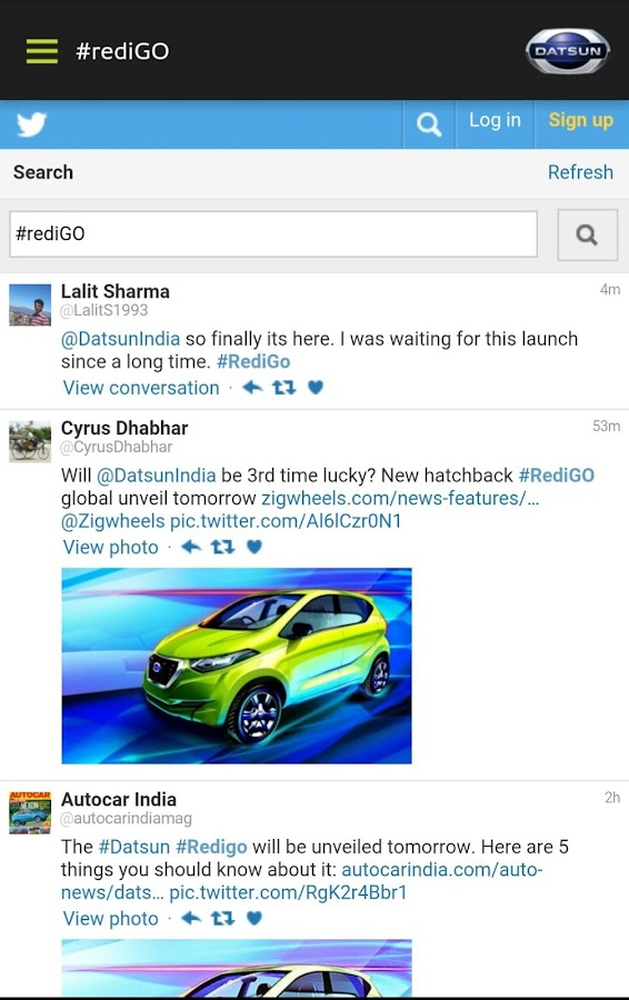 Datsun India Screenshot 2