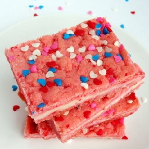 Valentine's Day Strawberry Cream Cheese Bars