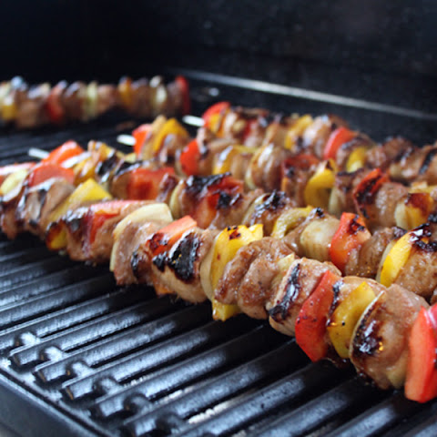 Hawaiian Marinated Pork Kabobs