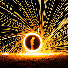 sun by Andrew Jouffray - Abstract Light Painting