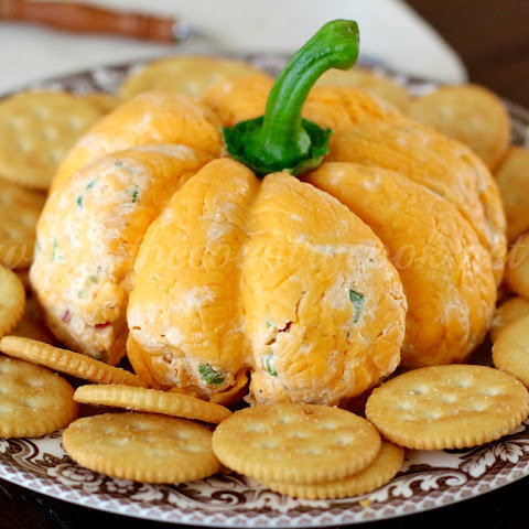 Pumpkin {Shaped} Cheese Ball