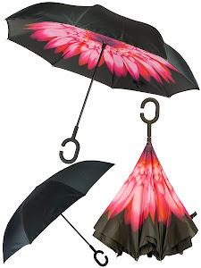 Зонт обратный, красный