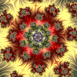 Flower Garden by Cassy 67 - Illustration Abstract & Patterns ( swirl, digital art, spiral, flowers, fractal, digital, flower )