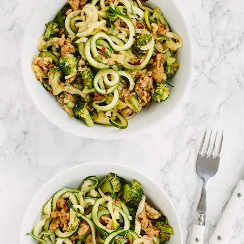 Chicken Sausage and Broccoli Zucchini Pasta with Parmesan