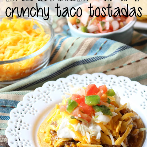 Decked Out Crunchy Taco Tostadas With Hamburger Helper