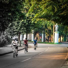 Bikers by Wohvener Amada - City,  Street & Park  City Parks ( rider, bikers,  )