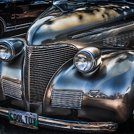 Cool Toy by Dave Lipchen - Transportation Automobiles ( car, old car, headlights, silvery )