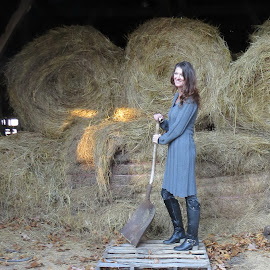 farm queen by Janice Moss - People Fashion ( fashion, fun, people, photography, portrait )