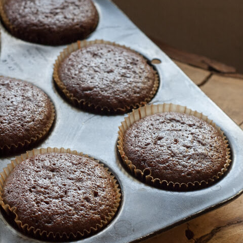 Chocolate Buttermilk Olive Oil Cupcakes