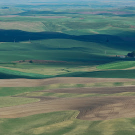 Sunset Steptoe Butte by Gale Perry - Landscapes Prairies, Meadows & Fields (  )