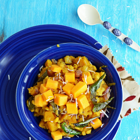 Butternut Squash Kootu-South Indian Fusion