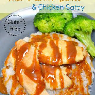 Easy Gluten-Free Thai Peanut Sauce and Chicken Satay