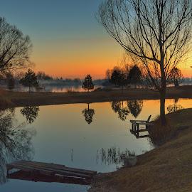 Reflection by Dunja Milosic Odobasic - Landscapes Waterscapes