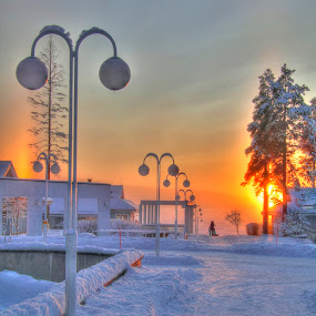 Katinkulta, Finland by Simon Lambert - Landscapes Weather (  finland,  winter, katinkulta,  ice,  snow )