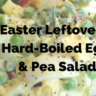 Easter Leftovers Hard-Boiled Egg Pea Salad