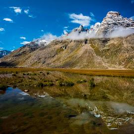 Mesmerizing Himalayas 2 by Sam's 1 Shot - Landscapes Mountains & Hills ( glacier, mountains, snow, cloud, lake, himalayas )