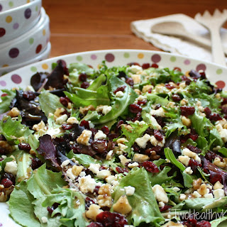 Salad with Nuts, Feta and Cranberries (Two Ways!)