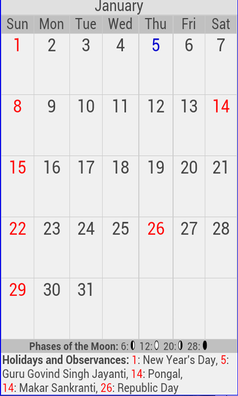 2017 Holiday Calendar India - Android Apps on Google Play