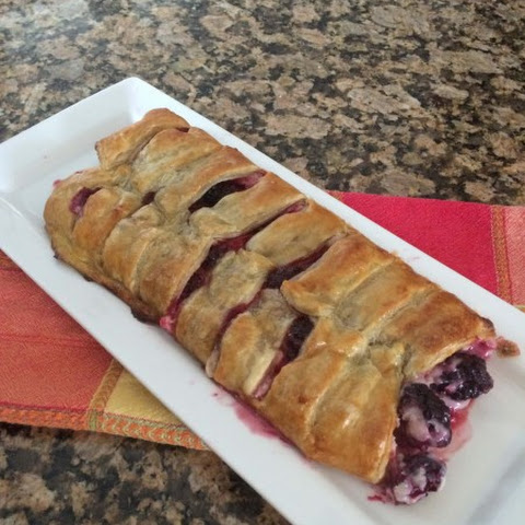 Blackberry Orange Cream Cheese Strudel