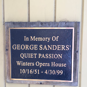 In Memory Of GEORGE SANDERS' QUIET PASSION Winters Opera House 10/16/51 - 4/30/99