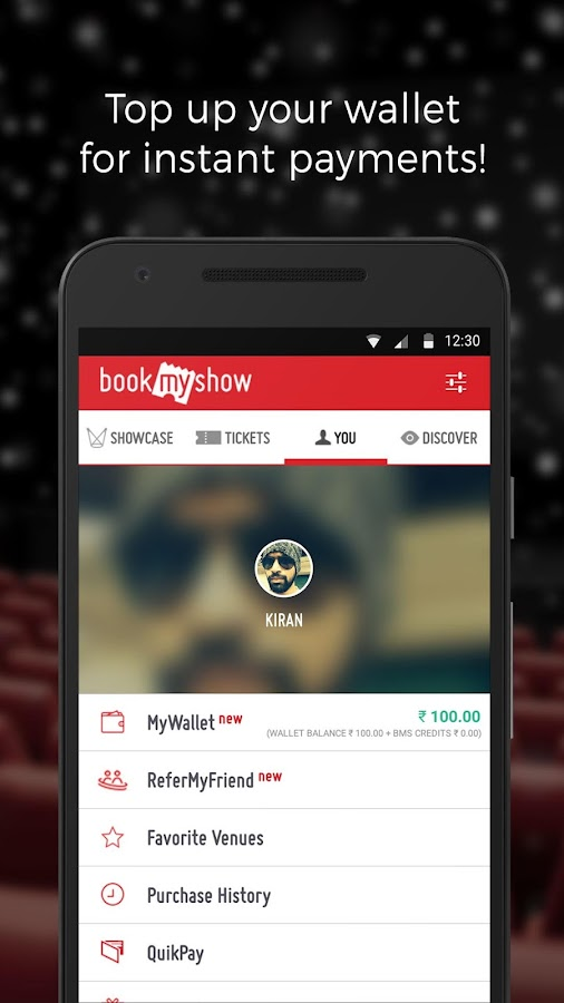 BookMyShow–Movie Tickets,Plays Screenshot 3