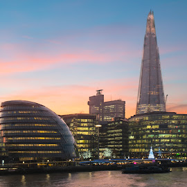 Dawn at the Shard by Matthieu Vermersch - Novices Only Landscapes ( the shard, tower, dawn, london, sunset )