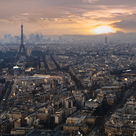 Paris Skyline by Jimmy Kohar - City,  Street & Park  Skylines