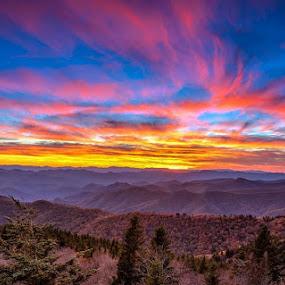 Cowee Sunset  by Robert Golub - Landscapes Sunsets & Sunrises