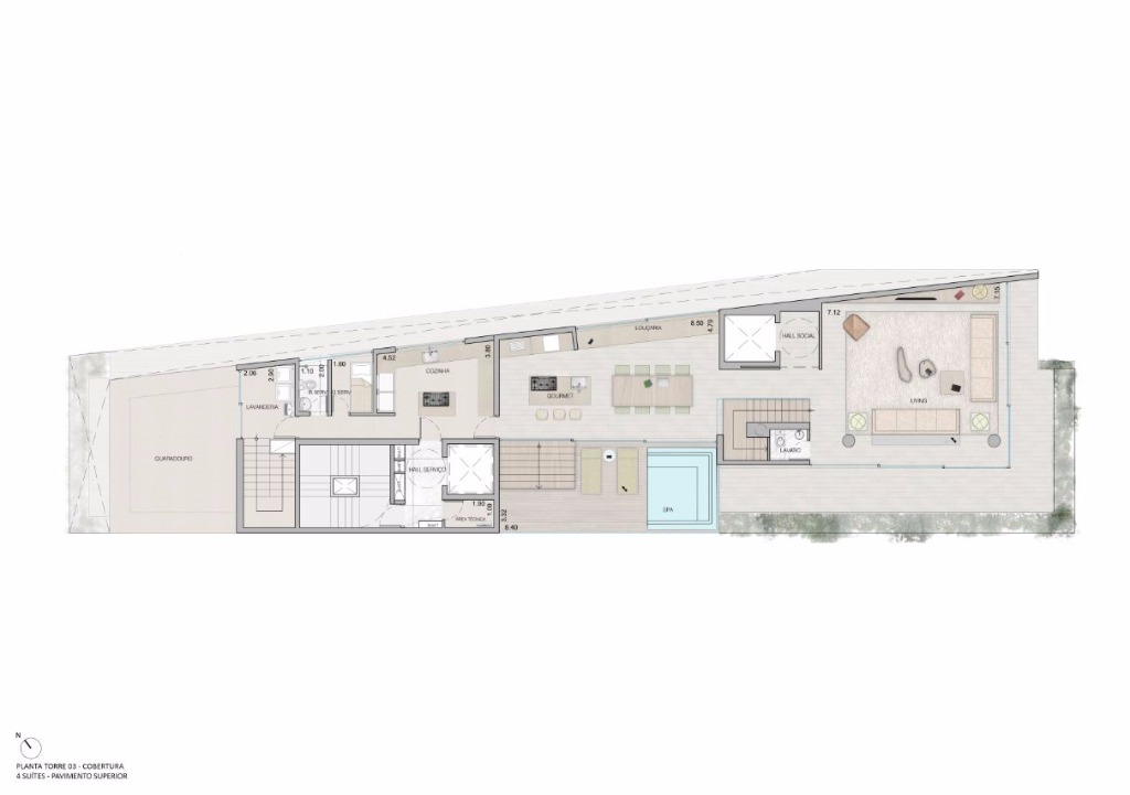 Cobertura Duplex   Pav Superior  -  535 m²