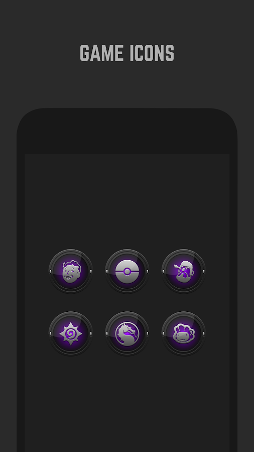 Black and Purple Icon Pack Screenshot 4