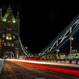London at MidNight  by Ahmed Alnuaimi - City,  Street & Park  City Parks ( lights, night photography, london, tower bridge, long exposure, night )