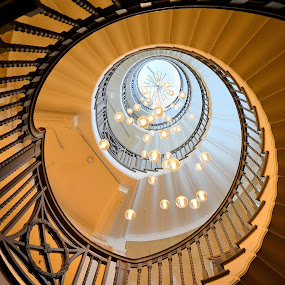 by Heather Aplin - Buildings & Architecture Architectural Detail ( stairs, stairases, staircase, spiral,  )
