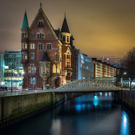 Hamburg Downtown by Daniel Sechila - City,  Street & Park  Night