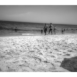 Where The Boys Are  by Gregg Moreland - Black & White Landscapes ( rehoboth, b&w )