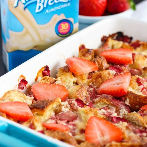 Strawberries and Cream Croissant Bake
